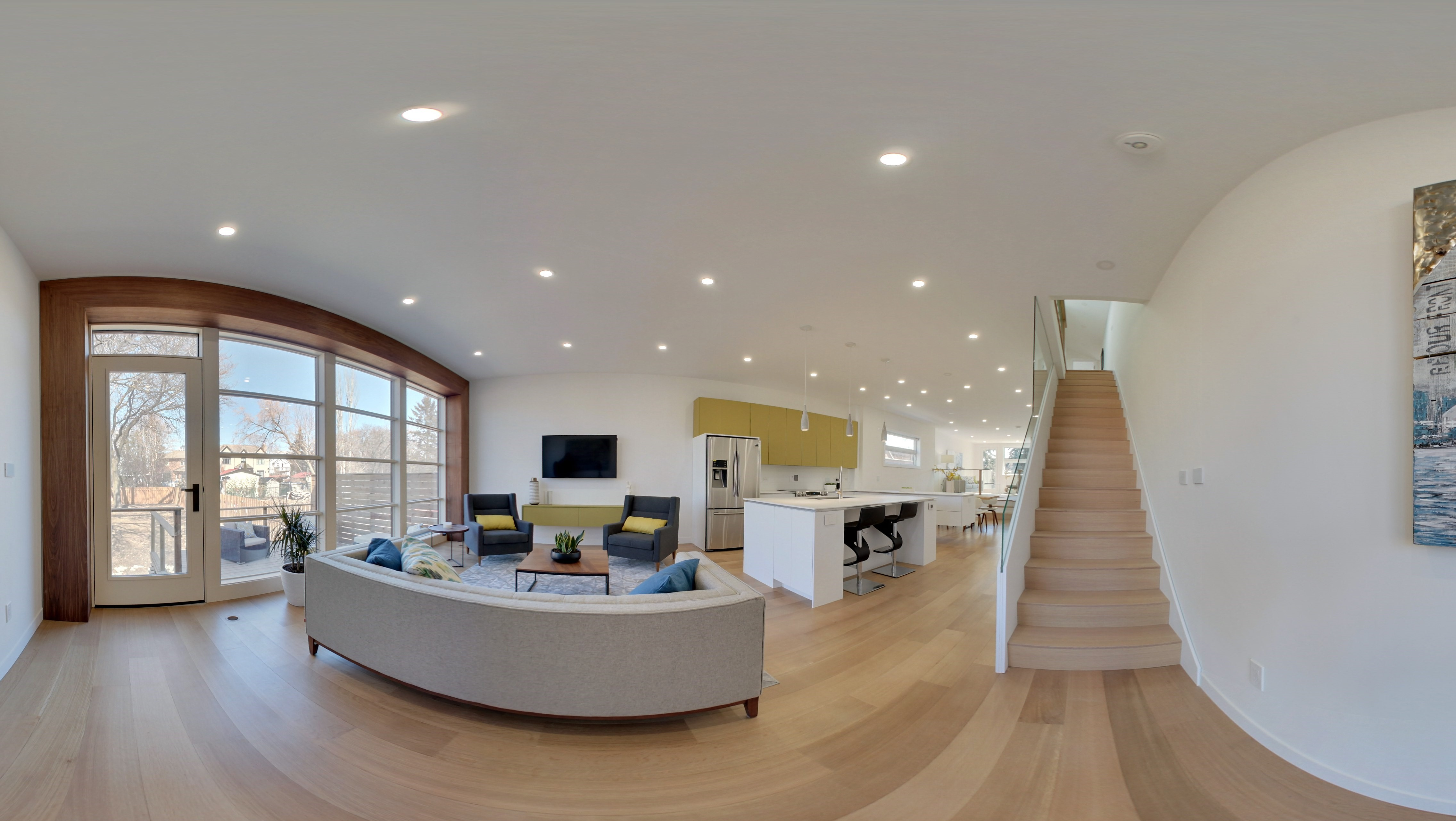 main floor fish eye 1